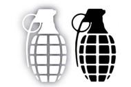 Grenade Die Cut Individual Grenade Sticker 2014