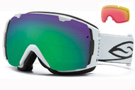 Smith I/O Goggle-White with Green Sol-x and Red Sensor Lenses 2014
