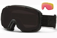 Smith I/O Goggle-Darkness with Blackout and Red Sensor Lenses 2014