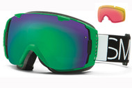 Smith I/O Goggle-Kelly Blockhead with Green Sol-x and Red Sensor Lenses 2014