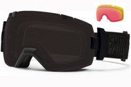 Smith I/OX Goggle-Darkness with Blackout and Red Sensor Lenses 2014