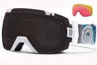 Smith I/OX Goggle-White Oceanic with Blackout and Red Sensor Lenses 2014