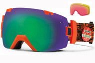 Smith I/OX Goggle-Orange W3 with Green Sol-x and Red Sensor Lenses 2014