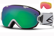 Smith I/OS Goggle-White with Green Sol-x and Red Sensor Lenses 2014