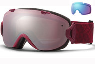 Smith I/OS Goggle-Merlot Motif with Ignitor and Blue Sensor Lenses 2014