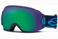 Smith Vice Goggle-Navy with Green Sol-x Lens 2014