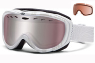 Smith Cadence Women's Goggle-White Danger with Initor and RC36 Lenses 2014