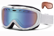 Smith Cadence Women's Goggle-White Danger with Blue Sensor and RC36 Lenses 2014