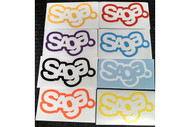 Saga 7in Logo Die Cut Sticker 2014