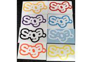 Saga 7in Logo Die Cut Sticker 2014