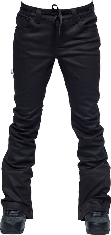 Black Waxed Denim/Front