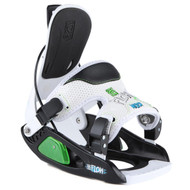 Flow Micron Snowboard Bindings Youth 2013-Black and White