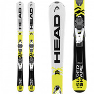 Head Supershape Team SLR 2 Junior Skis with SLR 4.5 Junior Ski Bindings 2018