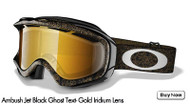 Oakley Ambush, Jet Black Ghost Text- Gold Irid Lens