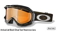 Oakley Ambush, Jet Black Ghost Text- Persimmons Lens