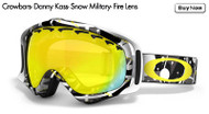 Oakley Crowbars- Danny Kaas- Snow Military- Fire Lens