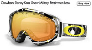 Oakley Crowbars- Danny Kaas- Snow Military- Persimmon Lens