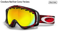 Oakley Crowbars- Red EverCamo- Fire Lens