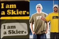 Line Skier Tshirt- I am a Skier- Yellow