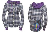 Nomis Womens Lumber Jane Flannel Shirt W Hood