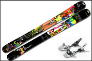 K2 Hell Bent Skis with Marker SchizoFrantic Bindings 2011