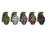 "Grenade 2"" Stickers"