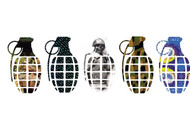 "Grenade 8.5"" Printed Die Cut Sticker"