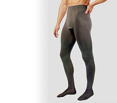 Support pantyhose and tights for men
