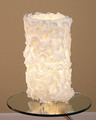 Lace Table Lamp Created from Linen