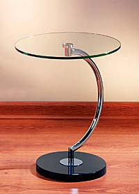 C Shaped Accent Table