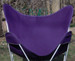 Butterfly Chair Replacement Cover - Purple Cotton Duck