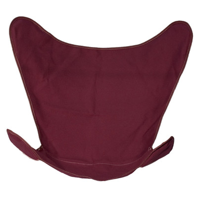 Butterfly Chair Replacement Cover - Burgundy Cotton Duck