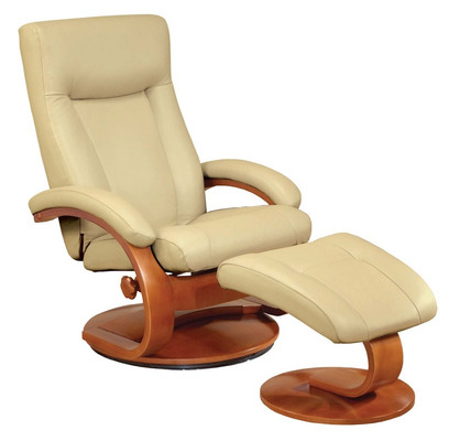 Comfortable Mac Motion Leather Chair and Ottoman Model 54