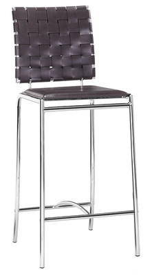 Criss Cross Counter Stool Leatherette Bar Stools (2 per box) with FREE Shipping