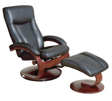 Mac Motion Model 54B Leather Chair and Ottoman