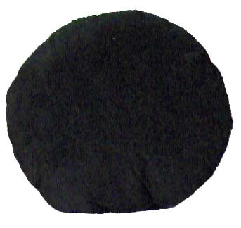 Black Round Accent Pillow