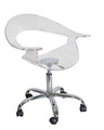 Clear Rumor Acrylic Office Chair