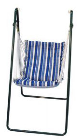 Padded Swing & Stand Combo in Blue Stripe