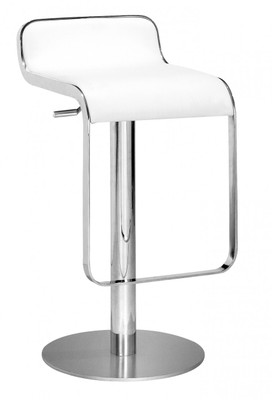 Equino Bar Stool in White  sc 1 st  Unique Contemporary Solutions & White Equino Bar Stool islam-shia.org