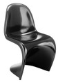 S Shaped Stackable Dining Chair in Black