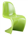 S Shaped Stackable Chair in Green