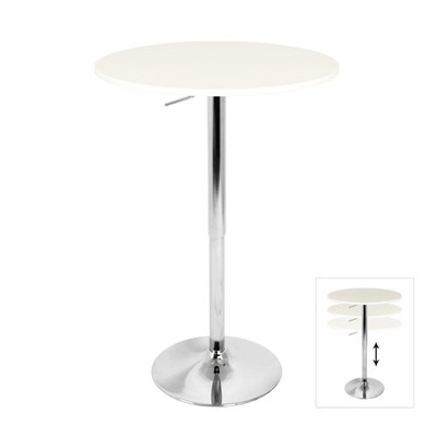 Adjustable white bar table