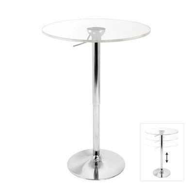 Adjustable Clear Acrylic Bar Stool