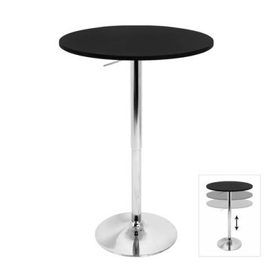 """Elia 27"""" Black Wood Bar Table"""