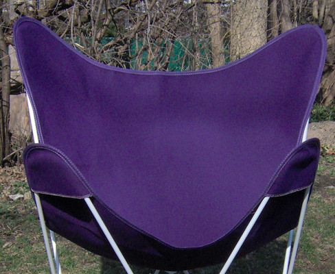 Butterfly Chair Replacement Cover -Purple Cotton Duck