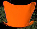 Butterfly Chair Replacement Cover - Orange Cotton Duck