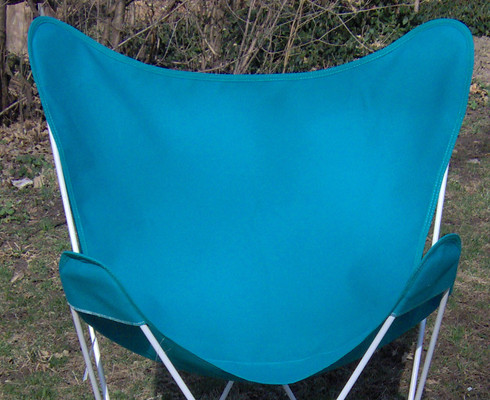 Butterfly Chair Replacement Cover - Teal Cotton Duck