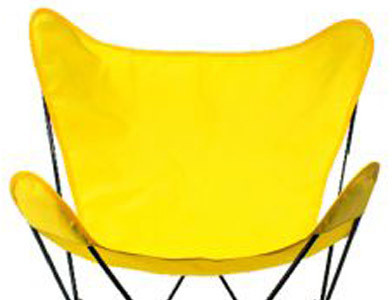 Butterfly Chair Replacement Cover - Yellow Cotton Duck