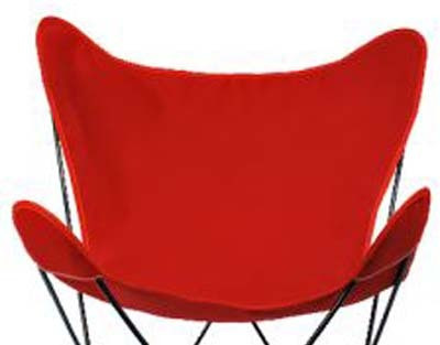 Butterfly Chair Replacement Cover - Red Cotton Duck