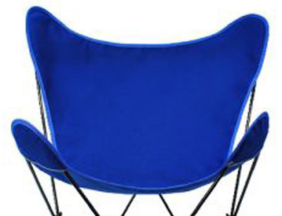 Butterfly Chair Replacement Cover - Royal Blue Cotton Duck